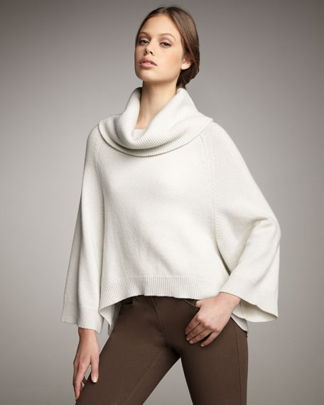 Cropped Cashmere Cape Sweater