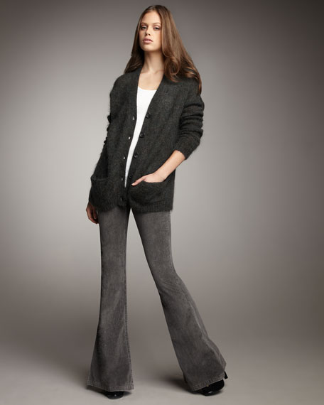 Bell-Bottom Cords, Washed Gray