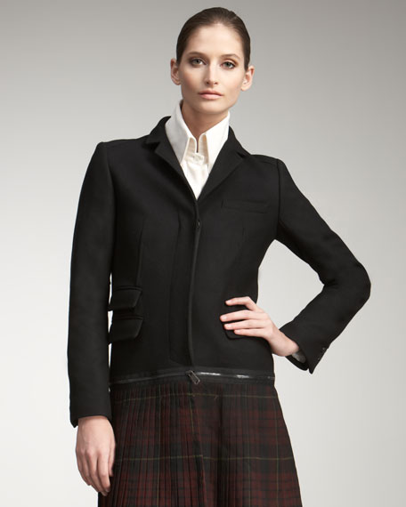 Tartan-Sweep Crombie Coat