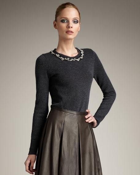 Jeweled Cashmere Sweater