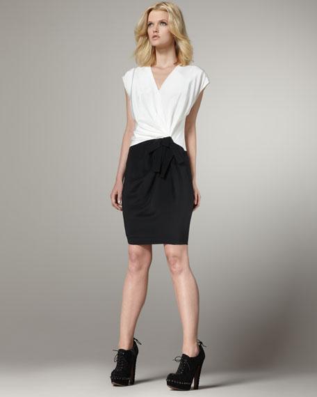 Colorblock Bow Dress