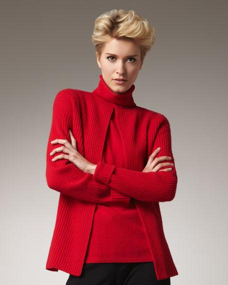 Rib-Knit Jacket