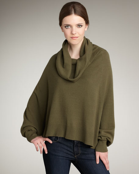 Keegan Cashmere Cape Sweater
