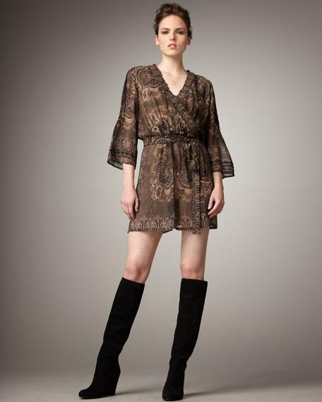 Sarika Paisley-Print Dress
