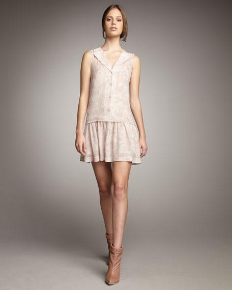 Drop-Waist Silk Dress