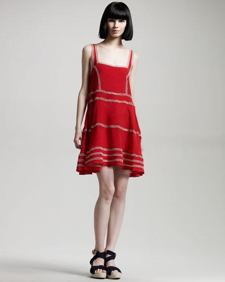 Ladder-Trim Slip Dress