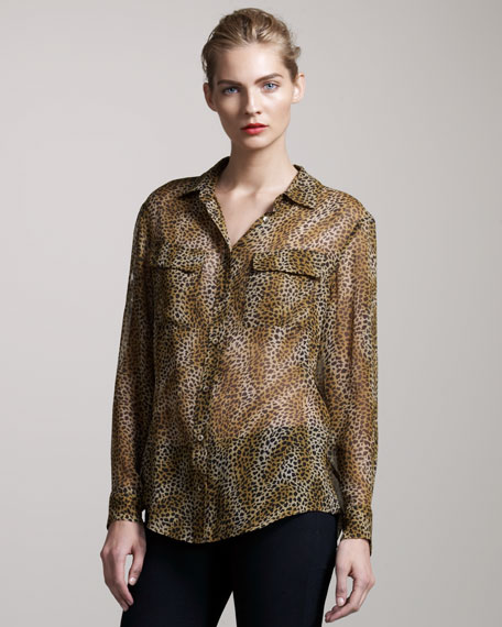 Signature Cheetah-Print Blouse