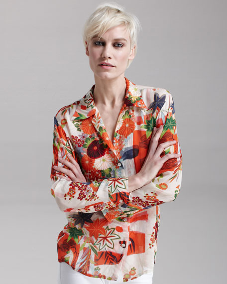 Hawaii 8-0 Chiffon Blouse