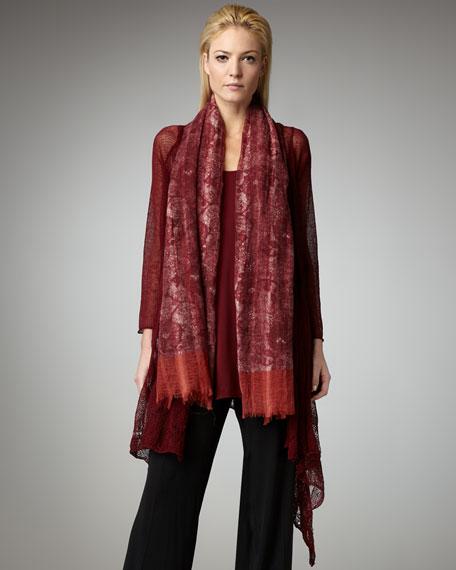 Lace-Trim Cascade Cardigan, Women's