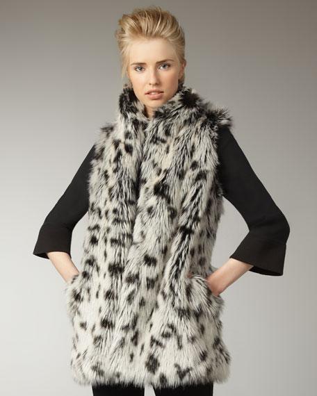 Shaelyn Long Faux-Fur Vest