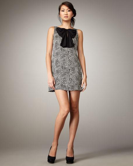 High-Neck Bow Dress