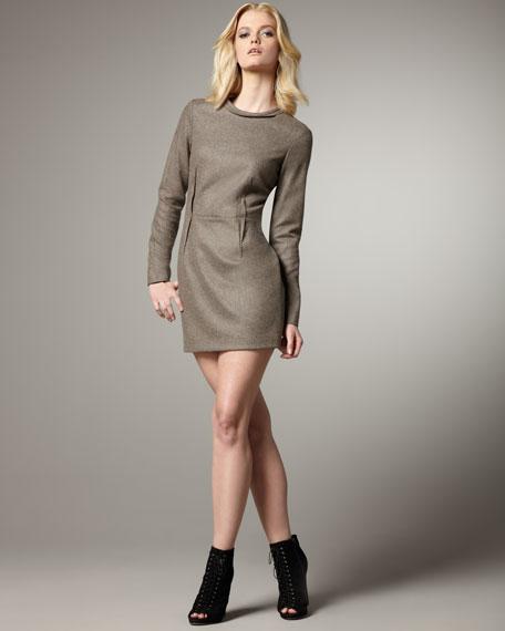 Scallop-Detail Dress
