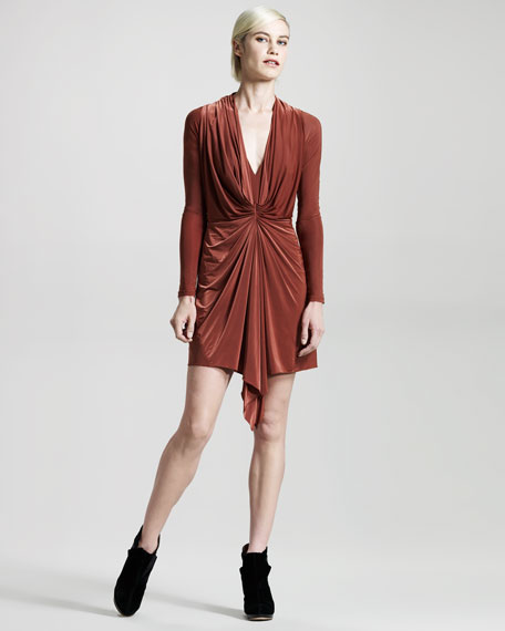 Pager Long-Sleeve Dress