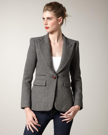 Structured Flannel Blazer