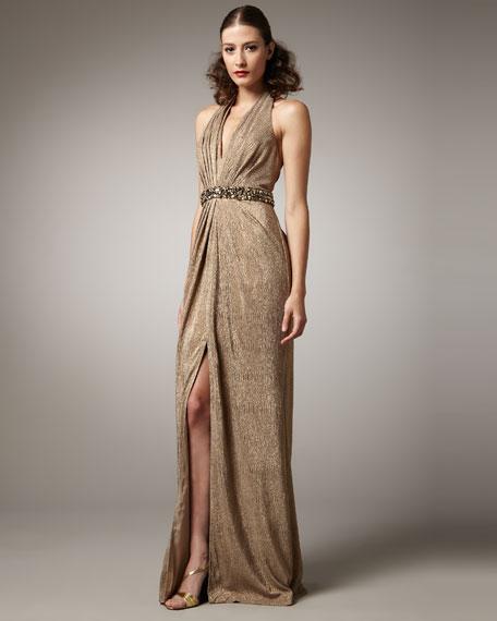 Sparkle Halter Gown