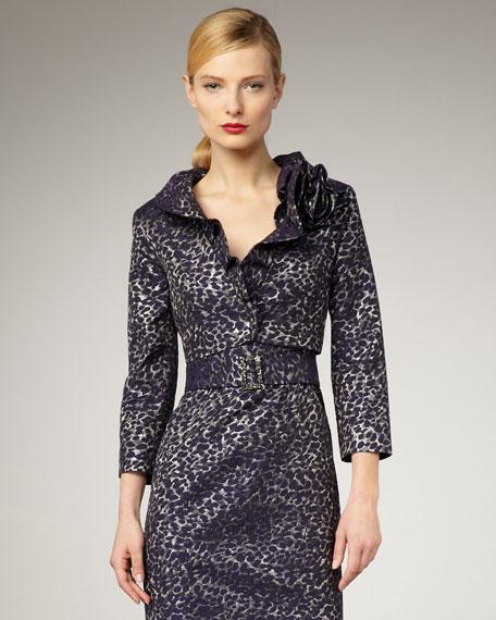 Leopard-Print Crop Jacket