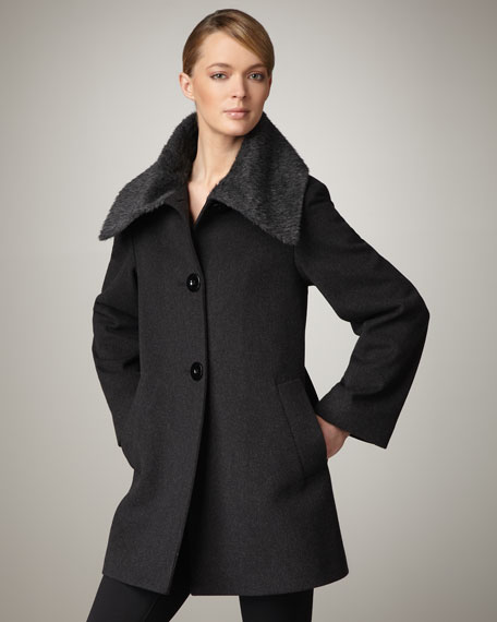 Alpaca-Collar Coat