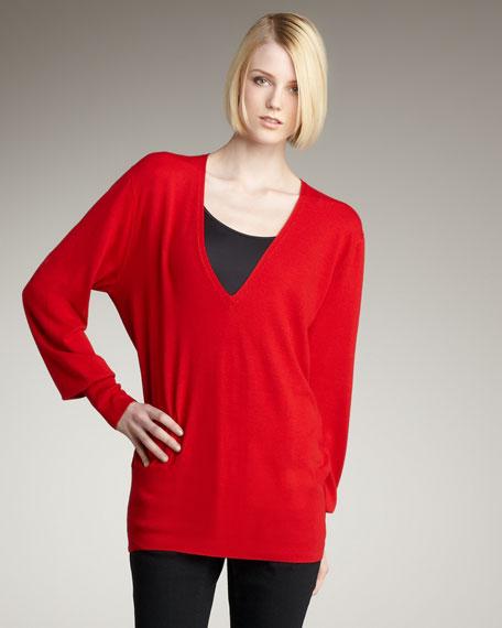 V-Neck Jersey Pullover