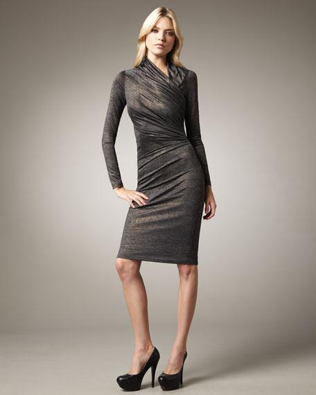 Asymmetric Metallic Dress