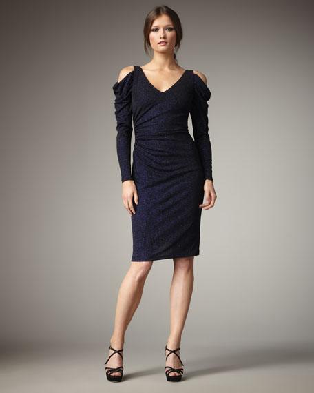 Cold-Shoulder Sparkle Dress