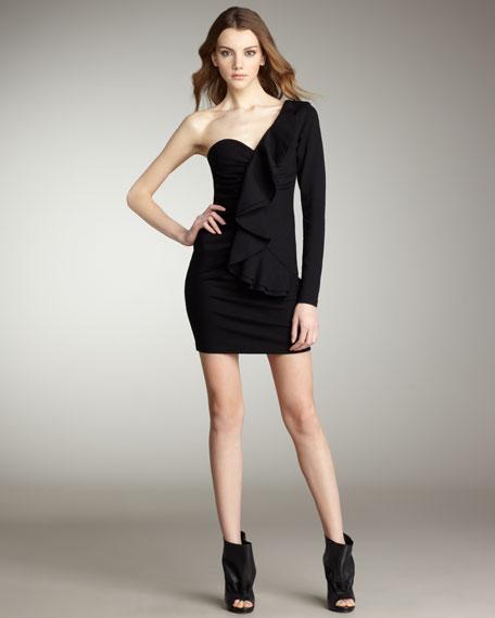 One-Sleeve Ponte Dress