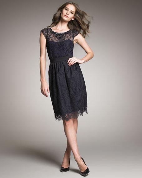 Illusion Top Lace Dress