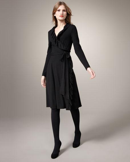 Maggie Ruffled Wrap Dress