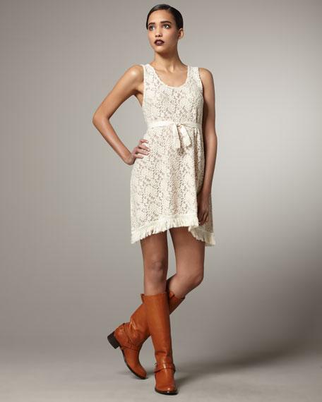 Wallflower Lace Fringe Dress
