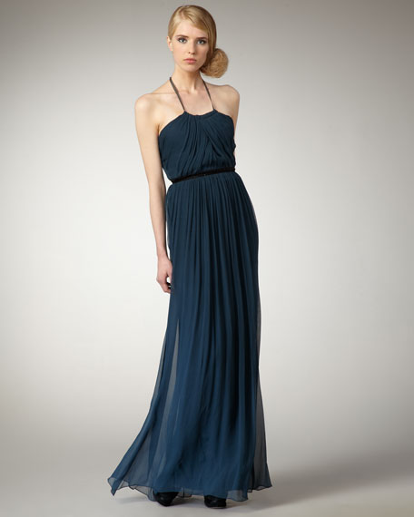 Halter Silk Gown