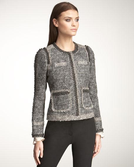 Sequined Boucle Jacket