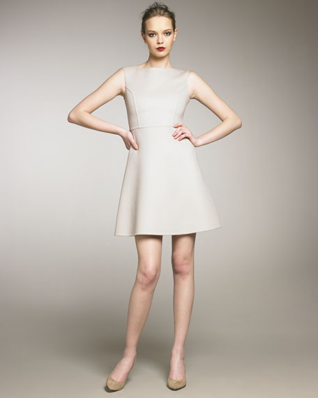 Double-Face Wool Sleeveless Dress