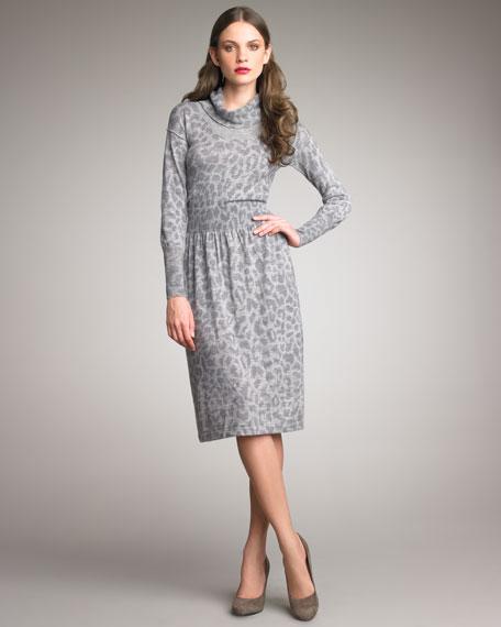 Cloud Leopard-Print Dress