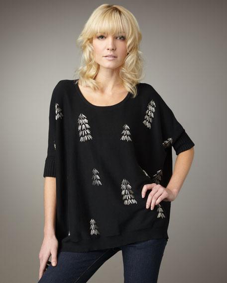 Oversized Tree Sweater, Women's