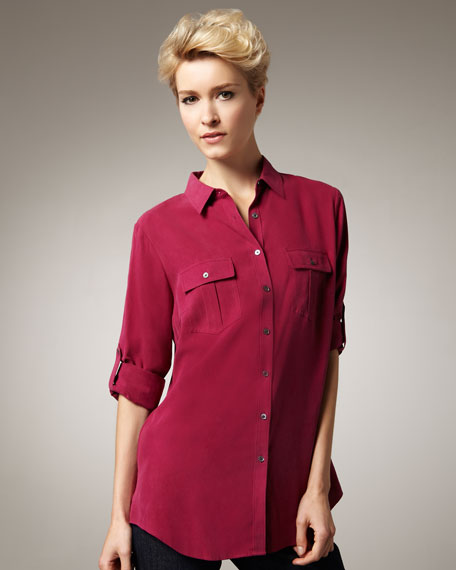 Silk Safari Blouse, Women's