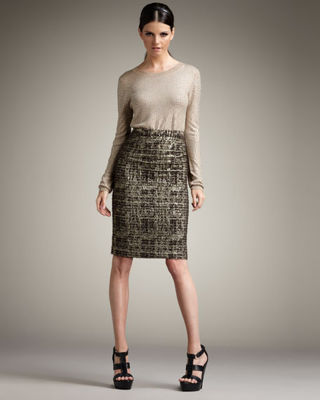 Simpson Tweed Pencil Skirt