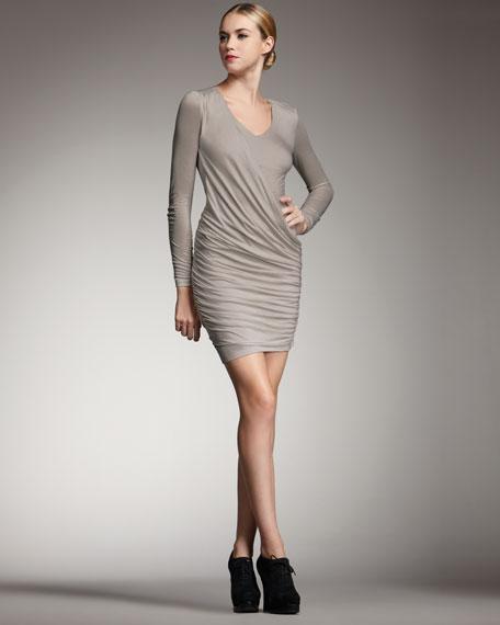 Toga-Style Draped Dress