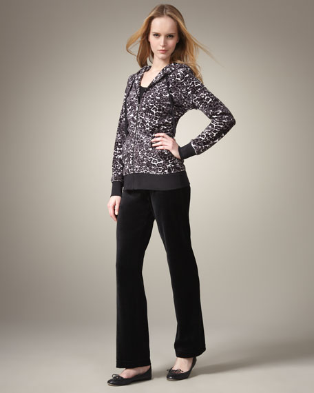 Animal-Print Jogging Suit