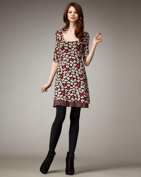 Deja Vu Floral Jersey Dress