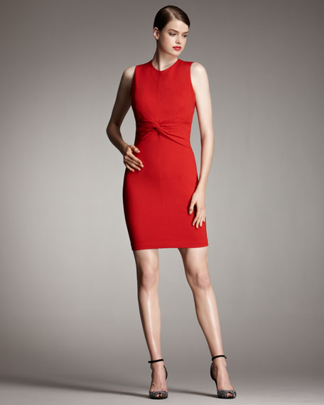 Twist-Front Sheath Dress