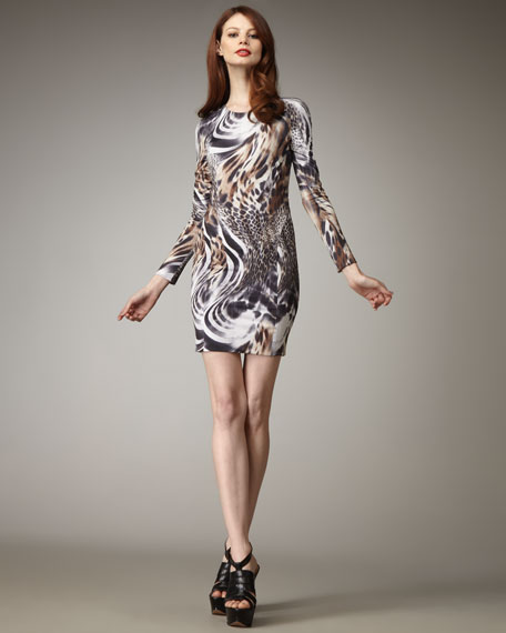 Tory Snow-Leopard-Print Dress