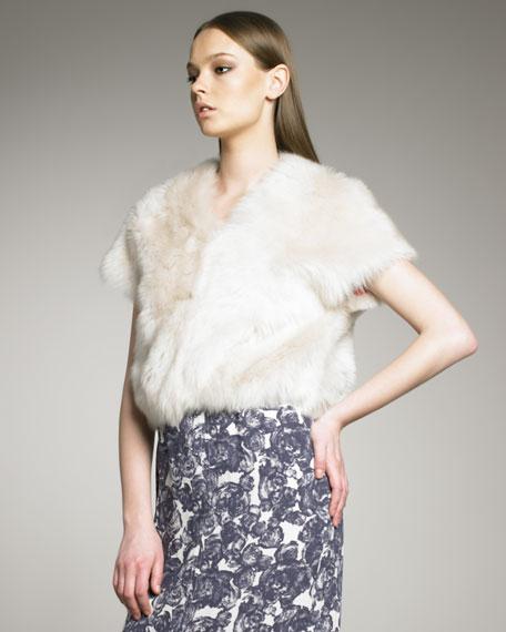 Short-Sleeve Shearling Vest