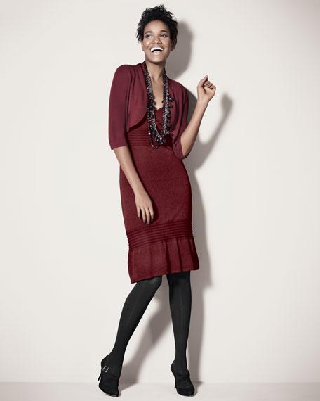 V-Neck Pintuck Dress, Women's