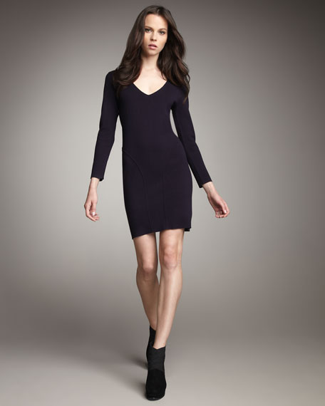 Fitted long sleeve dress 2017