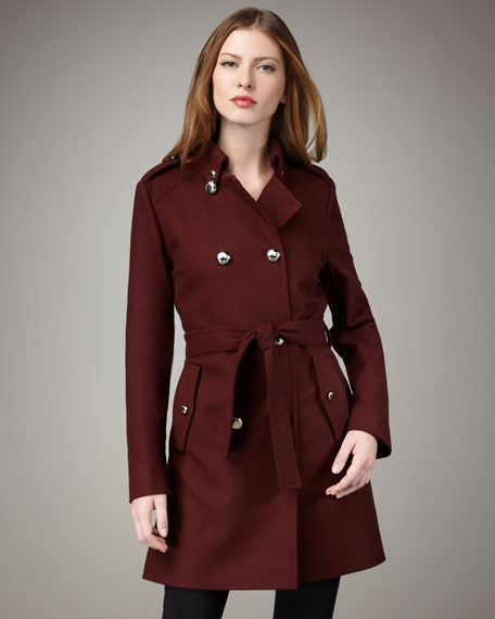 Belted Wool Trenchcoat