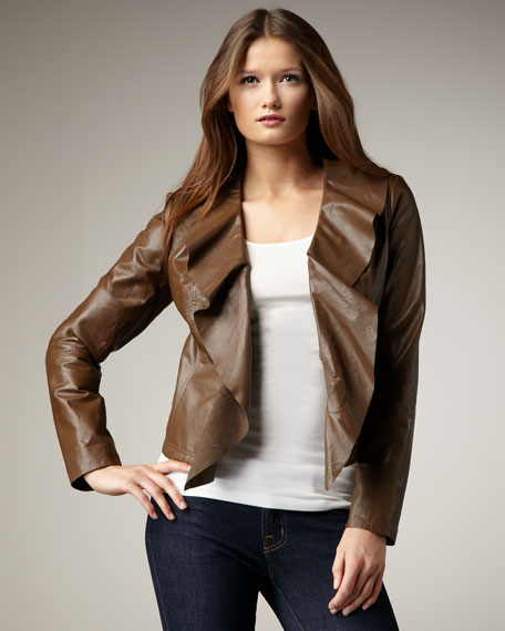 Leather Cascade Jacket