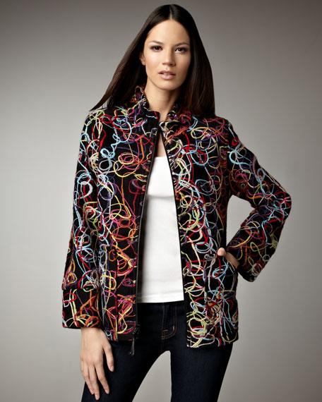 Swirled Yarn Jacket, Women's