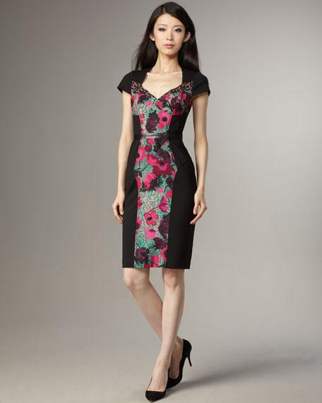 Printed-Panel Dress