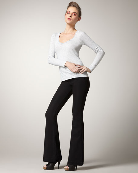 Joy Onyx Ultra-High-Rise Flare Jeans