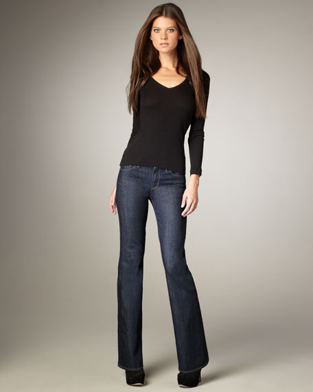 Amber Corpus Mid-Rise Boot-Cut Jeans