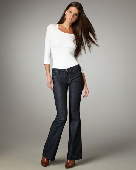 Marisa Broadway Mid-Rise Flared Jeans